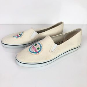 LA GEAR | Vintage Slip on Canvas Flats Sz 8